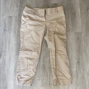 Ann Taylor Loft cropped Khaki pant